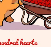 a Hundred Hearts Sticker