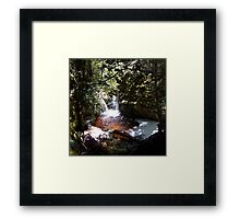 Water... Falls Framed Print