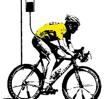 Lance Armstrong Print by willsharpe1