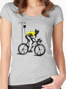Lance Armstrong Print Women's Fitted Scoop T-Shirt