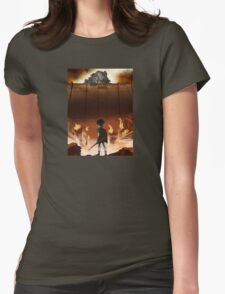 Attack on Teen Titanfall Womens Fitted T-Shirt