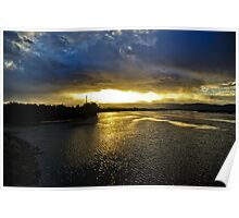 Waterscape: Illlawarra, NSW: And the rains fell... on Lake Illawarra  Poster