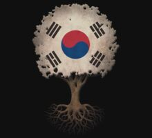Tree of Life with South Korean Flag Kids Clothes