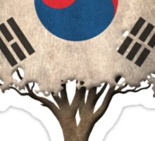 Tree of Life with South Korean Flag Sticker