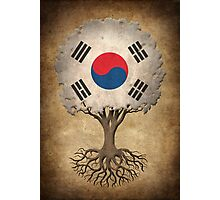 Tree of Life with South Korean Flag Photographic Print