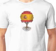 Tree of Life with Spanish Flag Unisex T-Shirt