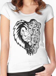 Psychedelly Lion Women's Fitted Scoop T-Shirt