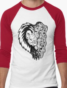 Psychedelly Lion Men's Baseball ¾ T-Shirt