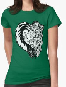 Psychedelly Lion Womens Fitted T-Shirt