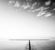 rock groyne in the North Sea I by novopics