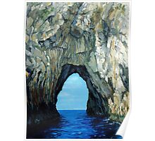 Capri Sailing (Reworked) Poster
