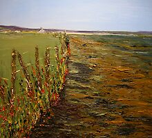 Poulnasherry Bay, Moyasta, Co.Clare (30 x 23 ins) by Pauline Dunleavy
