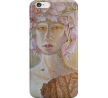 Rosewoman - Portrait In Crayon With Thorns For Teeth iPhone Case/Skin
