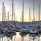 Sundown at the Marina by Xandru