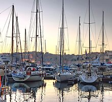 Sundown at the Marina by Xandru