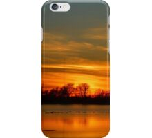 Sunset In A Ricefield With Tower iPhone Case/Skin
