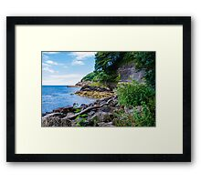 The Beautiful Wild Side of Babbacombe Bay, Devon, England Framed Print