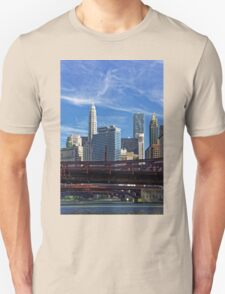 Chicago river cruise view towards  Dearborn Street Bridge T-Shirt