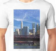 Chicago river cruise view towards  Dearborn Street Bridge Unisex T-Shirt
