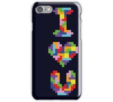 """I Love You"" - Tetris  iPhone Case/Skin"