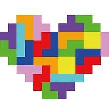 """I Love You"" - Tetris  by Kirstie Rutter"