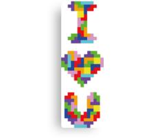 """I Love You"" - Tetris  Canvas Print"