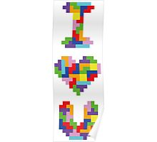 """I Love You"" - Tetris  Poster"