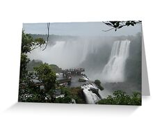 Iguazu Falls  South America Greeting Card