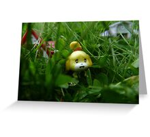 Leif doesn't like weeds Greeting Card