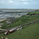 Maintenance work on Lindisfarne Northumberland England 198405290011m by Fred Mitchell