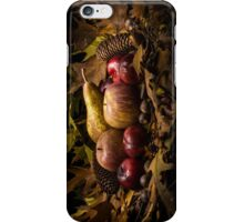 Autumnal still life composition with apples, pear and prunes iPhone Case/Skin