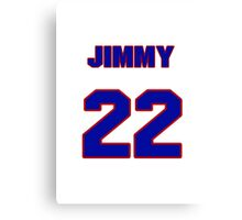 National baseball player Jimmy Key jersey 22 Canvas Print