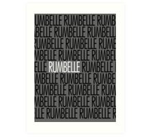 Rumbelle white name Art Print