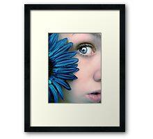 Peek Framed Print