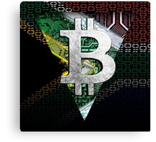 bitcoin South Africa Canvas Print