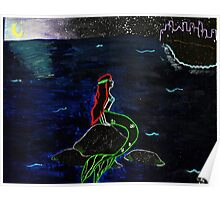 Abstract Little Mermaid Poster