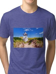 Lighthouse On The Dunes Prince Edward Island Tri-blend T-Shirt