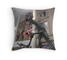 tyrannasourus rex Throw Pillow