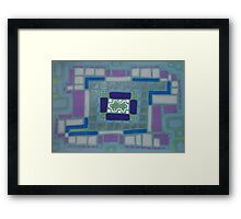 City Buildings as Archaeology Sketches Framed Print