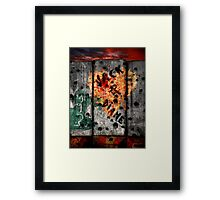 Valentine's Day outside the wire. Framed Print