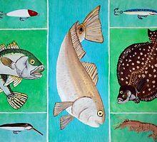 Great Fish Trio by Surrealfantasy