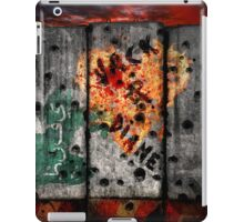 Valentine's Day outside the wire. iPad Case/Skin