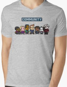 Community - 8Bit Mens V-Neck T-Shirt