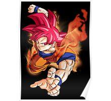 Super Saiyan God Goku Poster