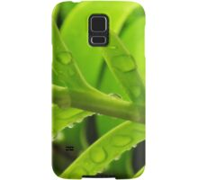 Green Leaves & Raindrops Samsung Galaxy Case/Skin