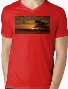 Desert Hawk Mens V-Neck T-Shirt