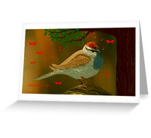 CHIRPING SPARROW Greeting Card