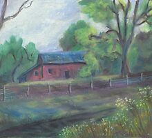 down the old barn road by Todd Peterson