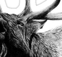 Bull elk Sticker