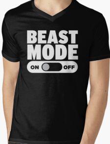 Beast Mode On Mens V-Neck T-Shirt